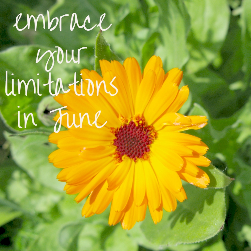 Embrace Your Limitations In June